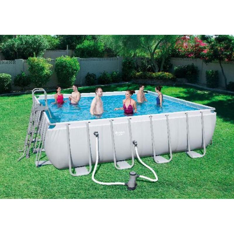 Bestway mistral stalen frame rechthoek zwembad 549 x 274 for Rechthoekig zwembad met pomp