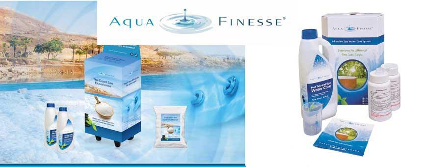 Aquafinesse hot-tub-box met bonus product en gratis-verzending.